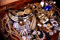 Fond d'or de bijou Photo stock
