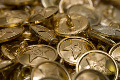 Fond d'or de bouton Images stock