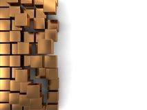 Fond d'or de cubes illustration libre de droits