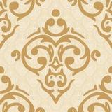 Fond d'or de damassé sans couture Image stock