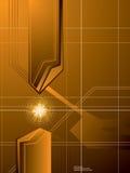 Fond d'or de flèche Images stock
