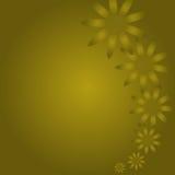 Fond d'or de fleurs Images libres de droits