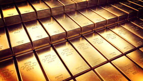 Fond d'or de lingot Photo libre de droits