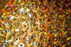 Fond d'or de miroitement brillant photo libre de droits