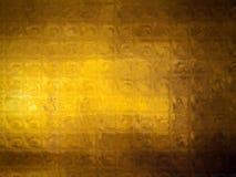 Fond d'or de mosaïque Photo libre de droits