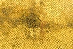 Fond d'or de mosaïque Images stock