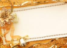 fond d'or de Noël 3D Photographie stock libre de droits
