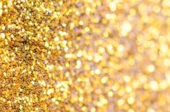 Fond d'or de Noël Photos libres de droits