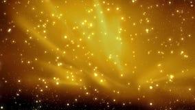 Fond d'or de Noël avec le bokeh de particules miroitant, Noël de vacances d'or illustration libre de droits