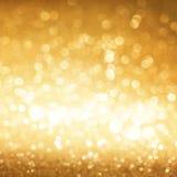 Fond d'or de scintillement Photos libres de droits