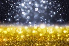 Fond d'or de scintillement de Noël Photographie stock