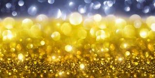 Fond d'or de scintillement de Noël Images libres de droits