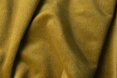 Fond d'or de tissu de velours, velours, mohair, effet de cachemire Photos libres de droits