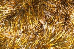 Fond d'or de tresse de Noël photos stock