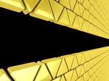 Fond d'or de triangles Photo stock