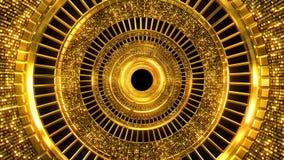 Fond d'or de trou banque de vidéos