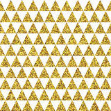 Fond d'or de vecteur de triangles Photos stock