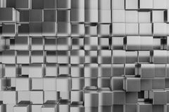 fond 3D des cubes en texture illustration stock
