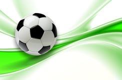 Fond 3d du football Photo libre de droits