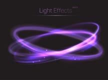 Fond d'effets de la lumière de cercle ou d'ovales Image stock