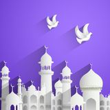 Fond d'Eid Mubarak (Eid heureux) Photos libres de droits