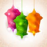 Fond d'Eid Mubarak (Eid heureux) Images libres de droits