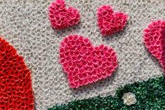 Fond d'en forme de coeur avec le ruban Images libres de droits