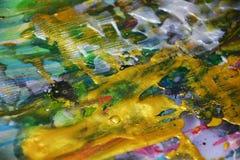 Fond d'or en pastel élégant d'abrégé sur peinture photo libre de droits