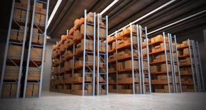 Fond a d'entrepôt Image stock