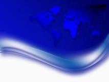 Fond d'entreprise abstrait bleu Photos libres de droits