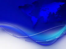 Fond d'entreprise abstrait bleu Photos stock