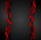 Fond d'entreprise onduleux noir rouge de contraste abstrait illustration stock