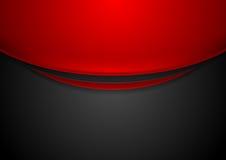 Fond d'entreprise onduleux rouge et noir de contraste illustration de vecteur