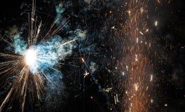 Fond d'espace lointain - fermez-vous vers le haut des feux d'artifice Photographie stock libre de droits