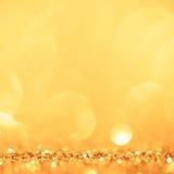 Fond d'or et jaune de cercle Photo libre de droits