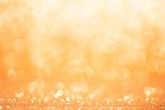 Fond d'or et jaune de cercle Photographie stock libre de droits