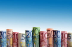 Fond d'euro argent Photographie stock