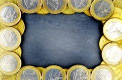 Fond d'euro argent Photos stock