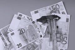 Fond d'euro et britannique livre Photo libre de droits