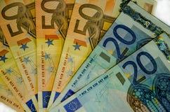 Fond d'euro factures Temps en argent Images libres de droits