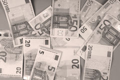 Fond d'euros Photographie stock