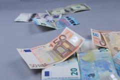 Fond d'euros Photo libre de droits