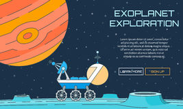 Fond d'exploration d'Exoplanet illustration stock