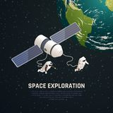 Fond d'exploration d'espace illustration stock