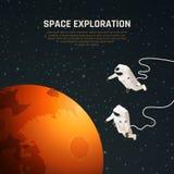 Fond d'exploration d'espace illustration de vecteur