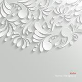 Fond 3d floral abstrait Photographie stock