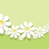 Fond 3d floral abstrait Images libres de droits
