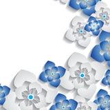 Fond 3D floral abstrait Photo libre de droits