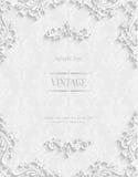 Fond 3d floral blanc de vecteur Calibre pour des cartes d'invitation de Noël Image libre de droits
