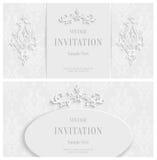 Fond 3d floral blanc de vecteur Calibre pour des cartes de Noël et d'invitation Photographie stock